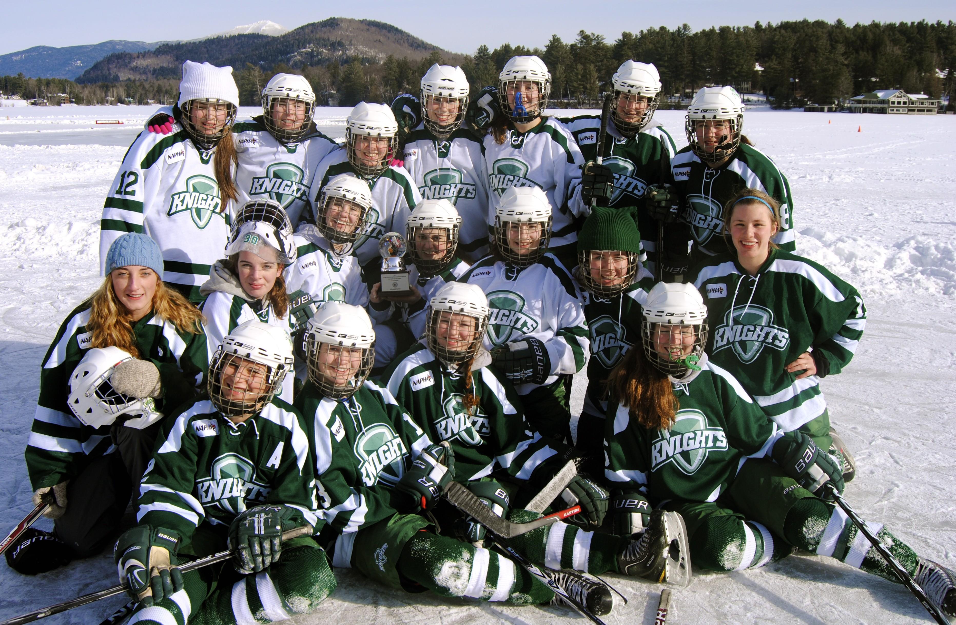 Knights Girls Prep Hockey Goes 2 1 At The Northwood School 33rd